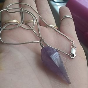 Sterling/Amethyst necklace. Beautiful!